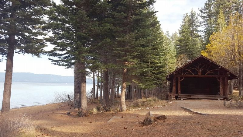 Cabin next to Lake Tahoe image. Click for full size.