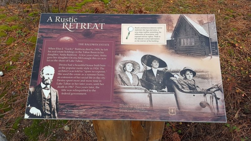 A Rustic Retreat: The Baldwin Estate Marker image. Click for full size.