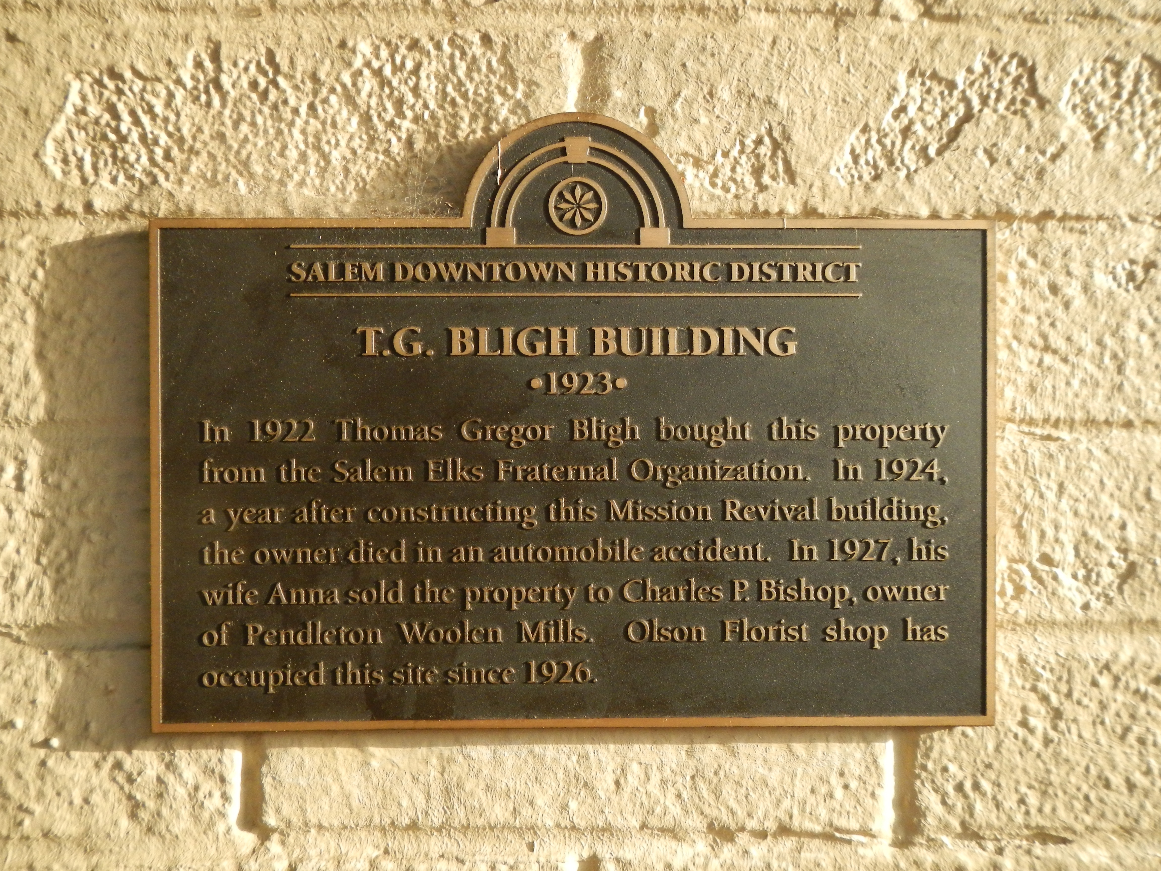 T.G. Bligh Building Marker