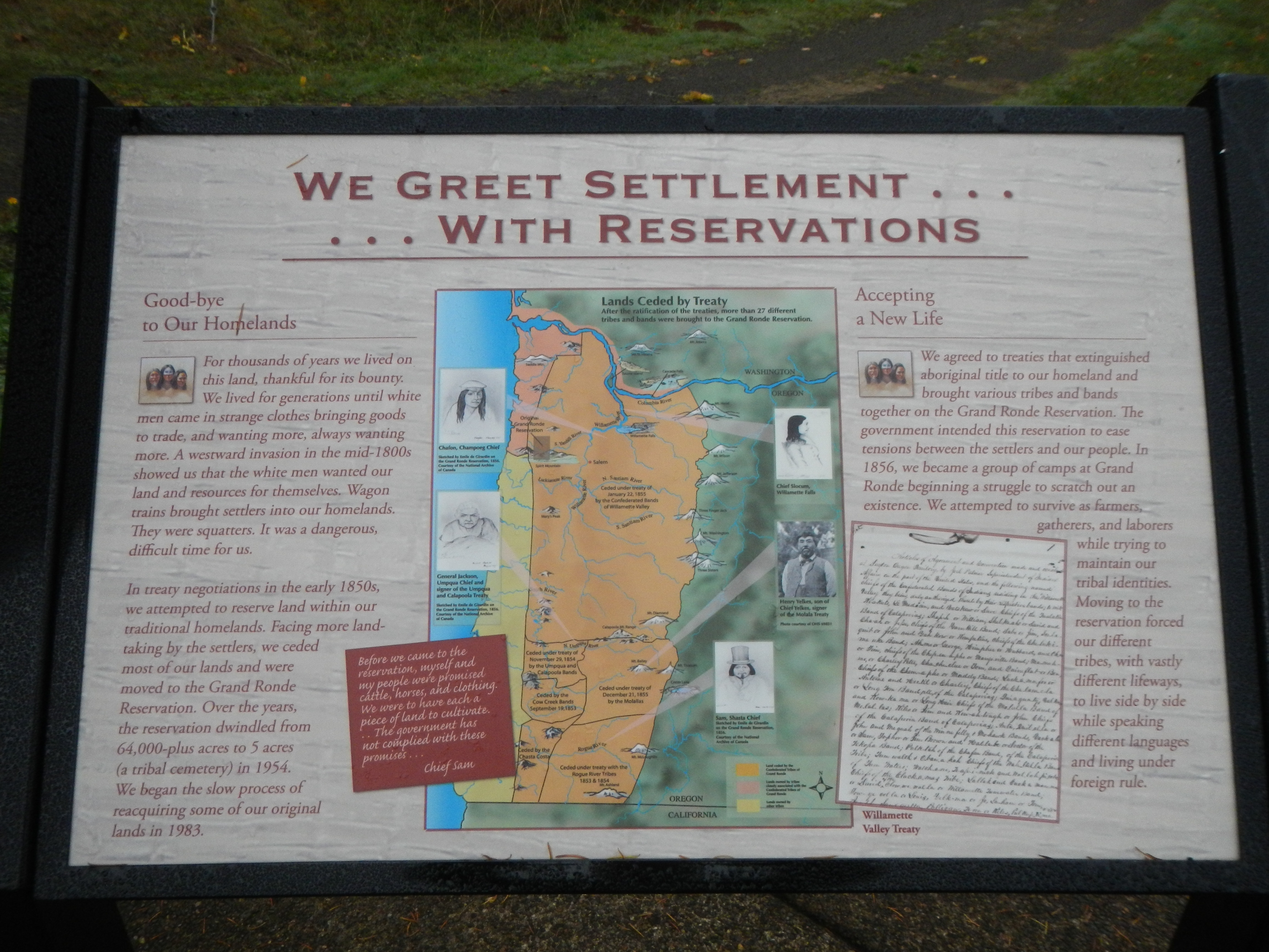 We Greet Settlement ... ... With Reservations Marker