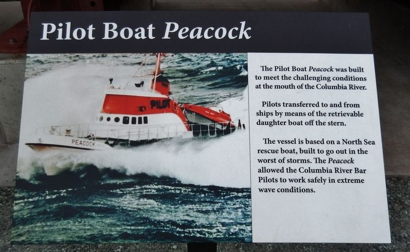Pilot Boat Peacock Marker image. Click for full size.