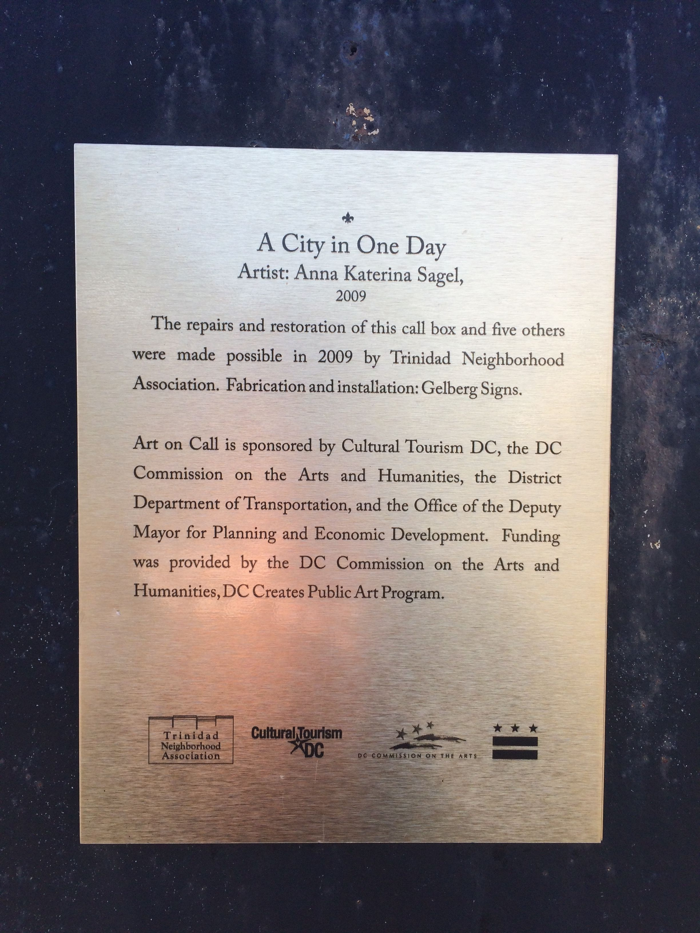A City in One Day Marker