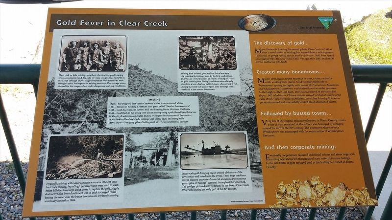 Gold Fever in Clear Creek Marker image. Click for full size.