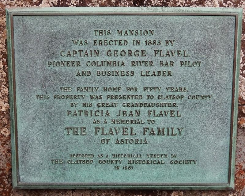 Captain George Flavel Mansion Marker image. Click for full size.