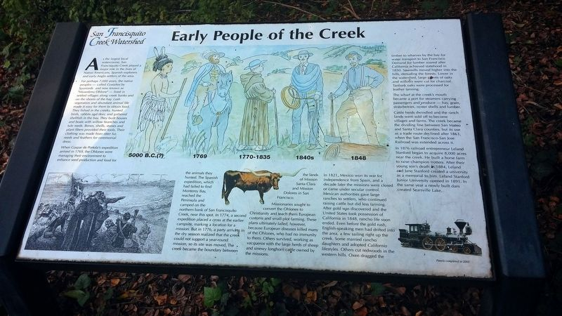 Early People of the Creek Marker image. Click for full size.