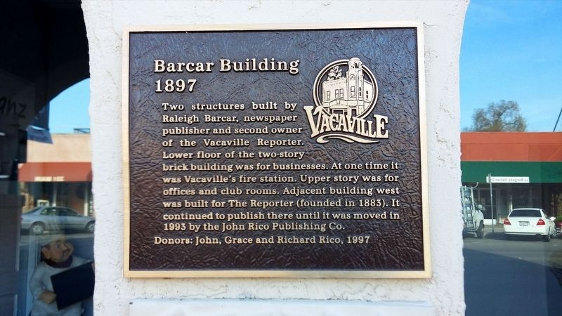 Barcar Building Marker image. Click for full size.