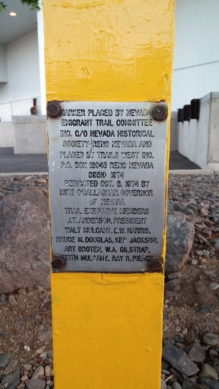 Emigrant Trail--Truckee River Route Marker image. Click for full size.