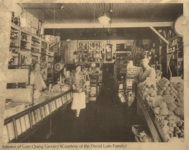 Marker detail: Lum Quing Grocery Interior image. Click for full size.