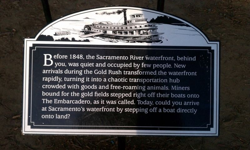 Sacramento River Waterfront Marker image. Click for full size.