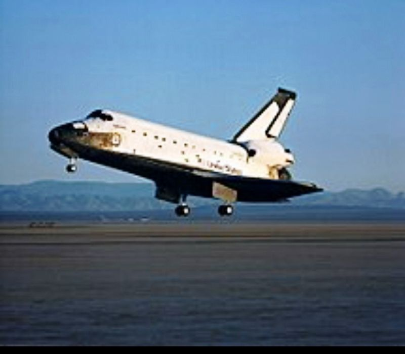 Space Shuttle Columbia image. Click for full size.