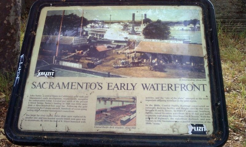 Sacramento's Early Waterfront Marker image. Click for full size.