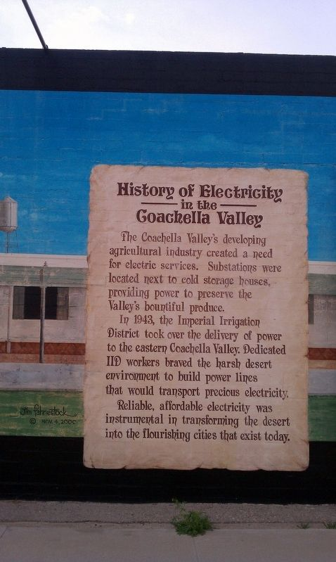 History of Electricity in the Coachella Valley Marker image. Click for full size.