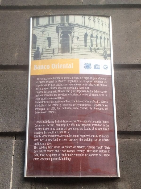 The Oriental Bank Building Marker image. Click for full size.