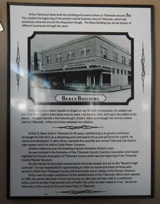 Beals Building Marker image. Click for full size.