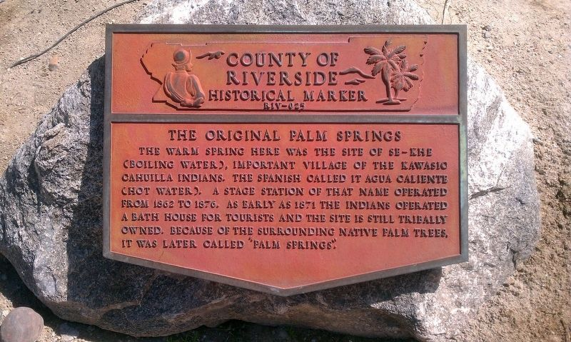 The Original Palm Springs Marker image. Click for full size.