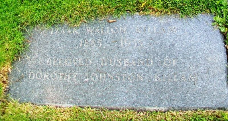 Izaak Walton Killam Grave Marker image. Click for full size.