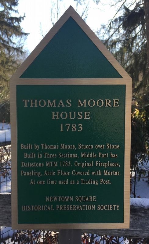 Thomas Moore House Marker image. Click for full size.