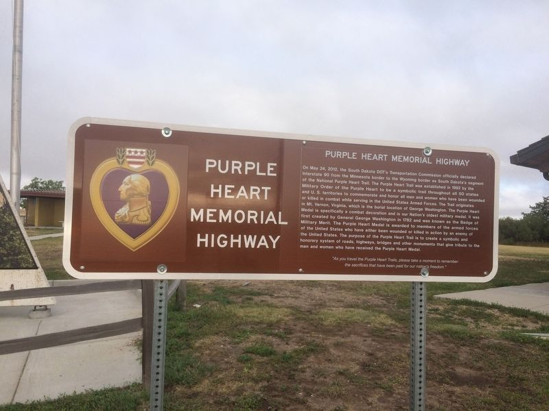 Purple Heart Memorial Highway Marker image. Click for full size.