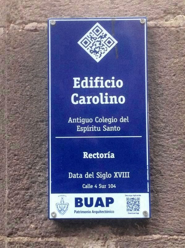 An additional marker at the Edificio Carolino image. Click for full size.
