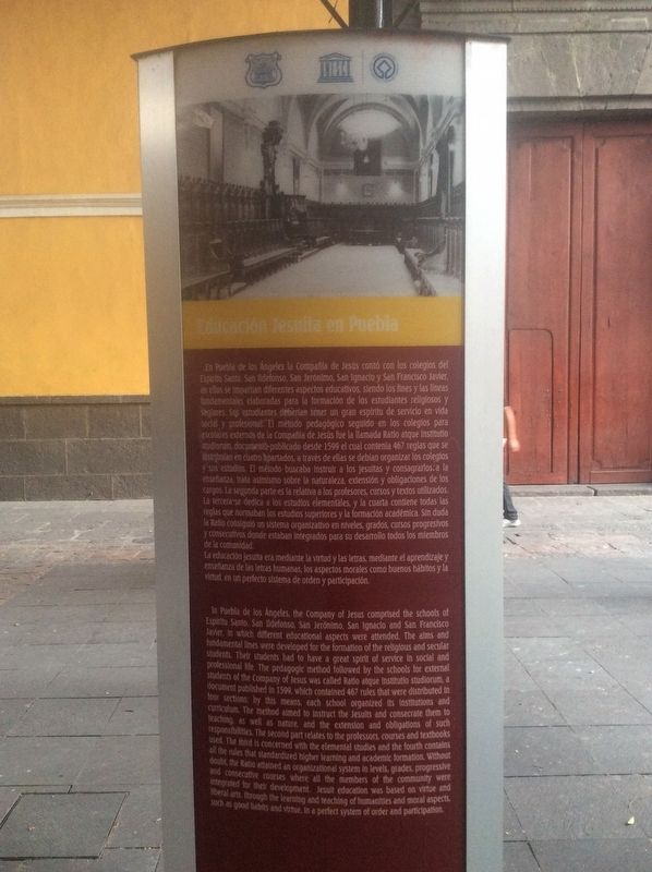 Jesuit Education in Puebla Marker image. Click for full size.