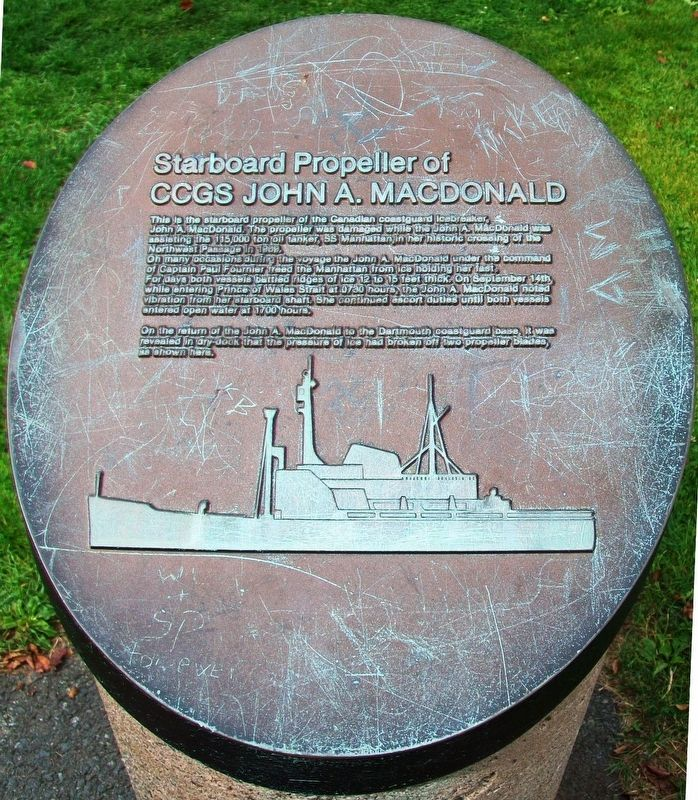 Starboard Propeller of CCGS John A. Macdonald Marker image. Click for full size.