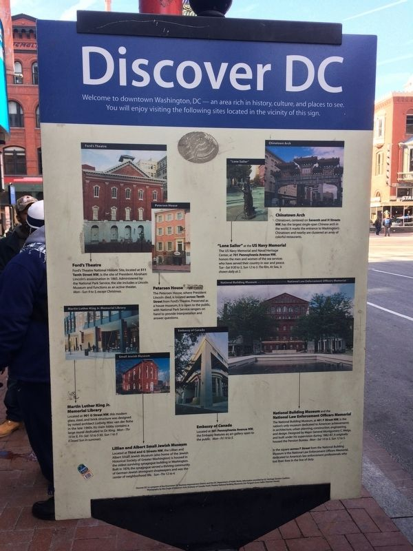 Discover DC / Gallery Place - Chinatown Marker image. Click for full size.