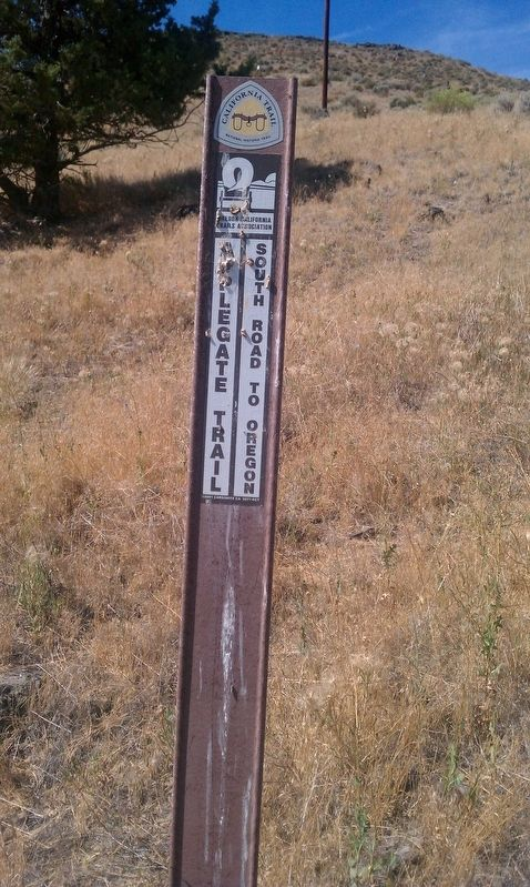 Applegate Trail - Up a Steep Hill Marker image. Click for full size.