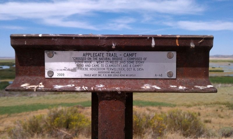 Applegate Trail - Campt Marker image. Click for full size.