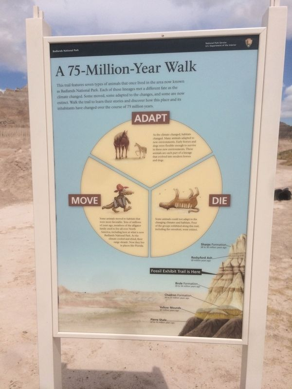 A 75-Million-Year Walk Marker image. Click for full size.