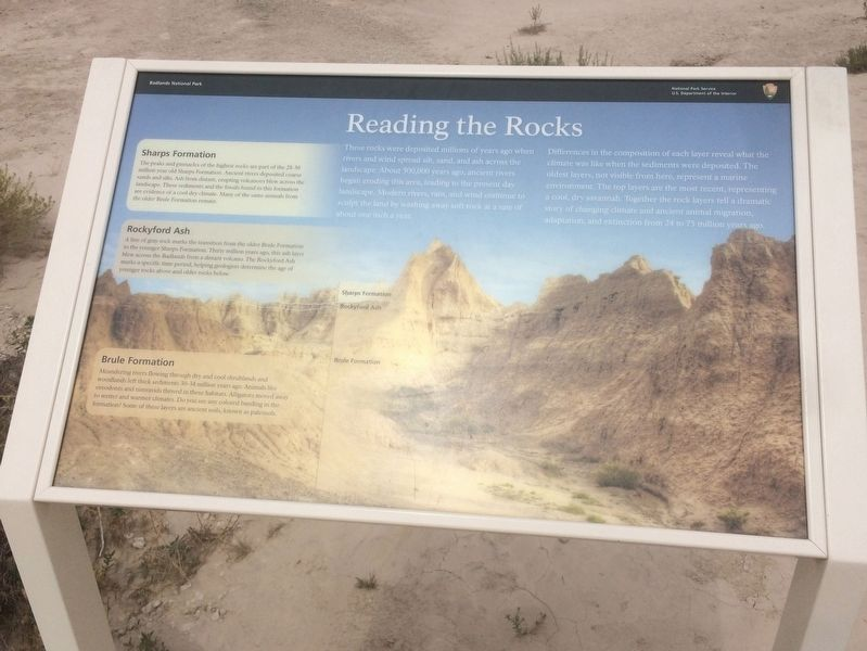 Reading the Rocks Marker image. Click for full size.