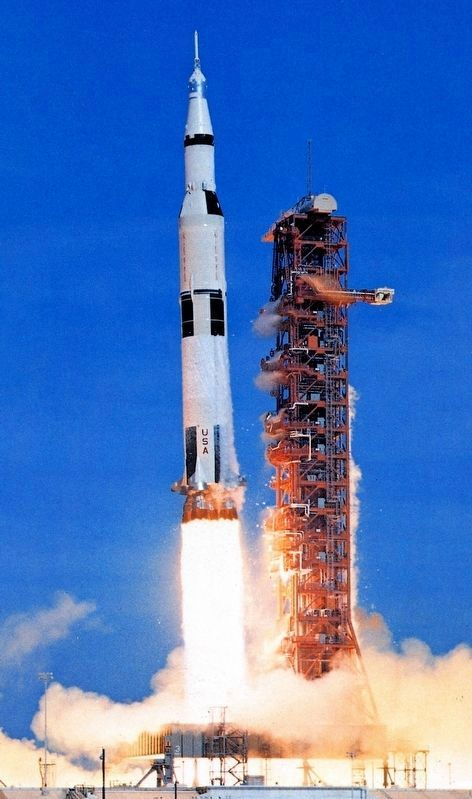 Apollo Saturn V Launch image. Click for full size.