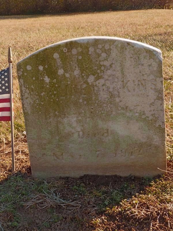 Sarah Hopkins' Original Headstone image. Click for full size.