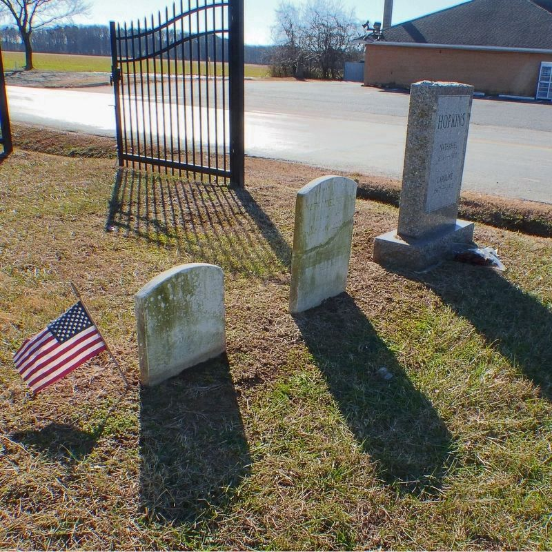Three Headstones in the Old Paradise Cemetery in Trappe. image. Click for full size.
