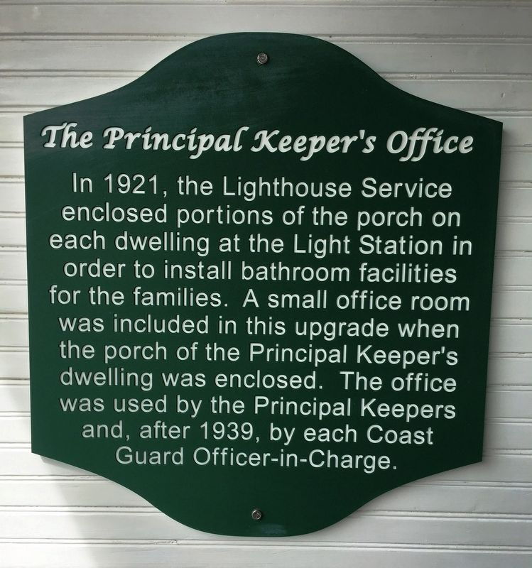 Principal Keepers Office Marker image. Click for full size.