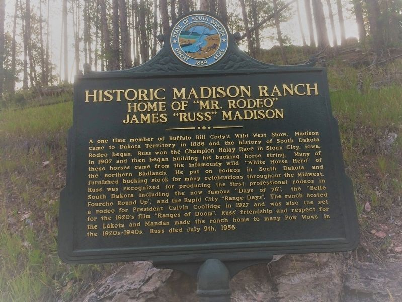 Historic Madison Ranch Marker image. Click for full size.