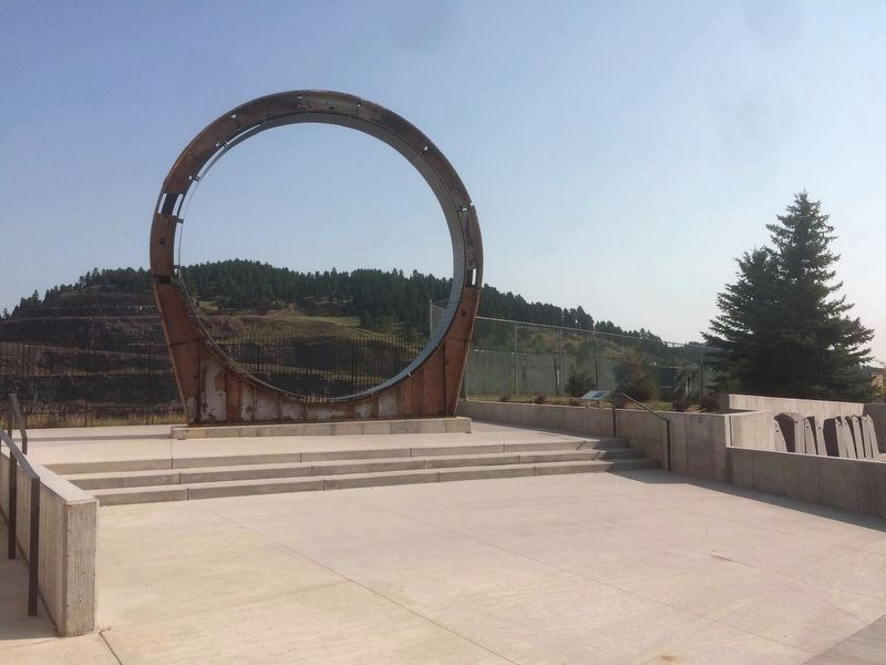 Ray Davis and the Homestake Experiment Marker and Ring image. Click for full size.