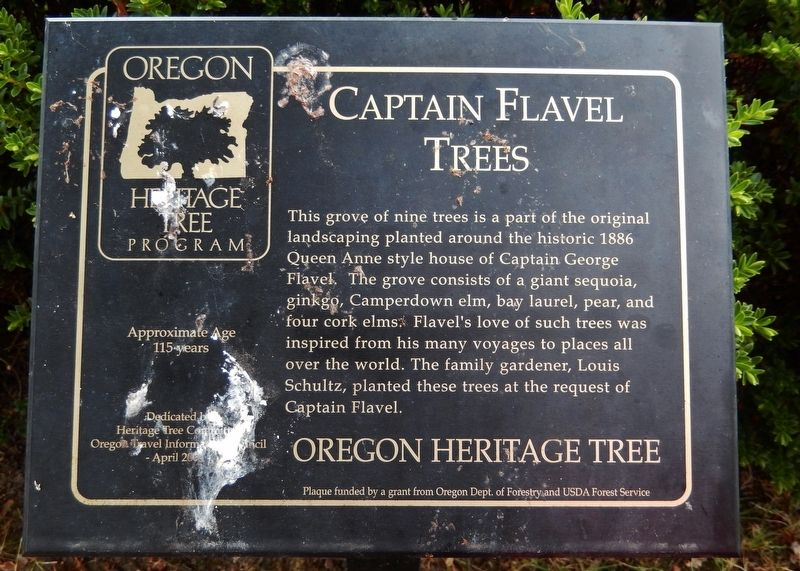 Captain Flavel Trees Marker image. Click for full size.