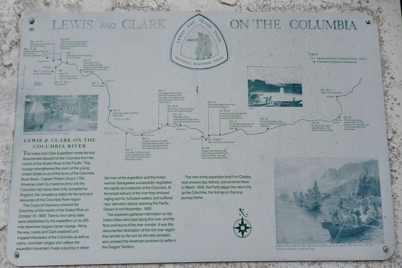 Lewis and Clark on the Columbia Marker image. Click for full size.