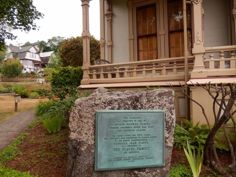 Captain George Flavel Mansion Marker (<i>wide view</i>) image, Touch for more information