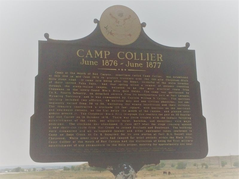 Camp Collier Marker image. Click for full size.