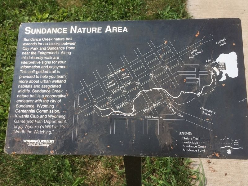 Sundance Nature Area Marker image. Click for full size.