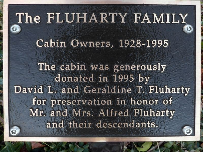 The Fluharty Family<br>Cabin Owners, 1928-1995 image. Click for full size.