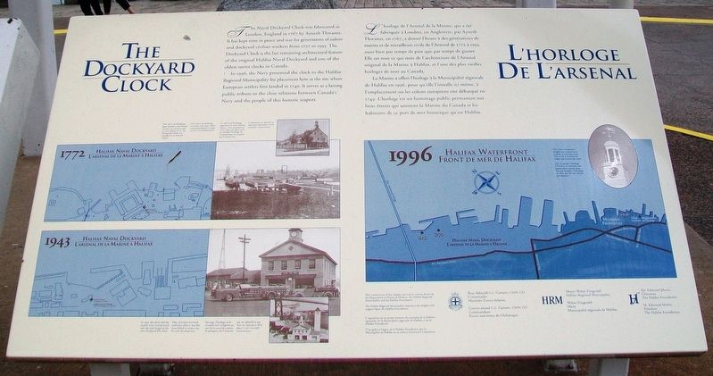 The Dockyard Clock / L'horloge de L'arsenal Marker image. Click for full size.