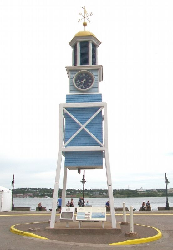 The Dockyard Clock / L'horloge de L'arsenal and Marker image. Click for full size.