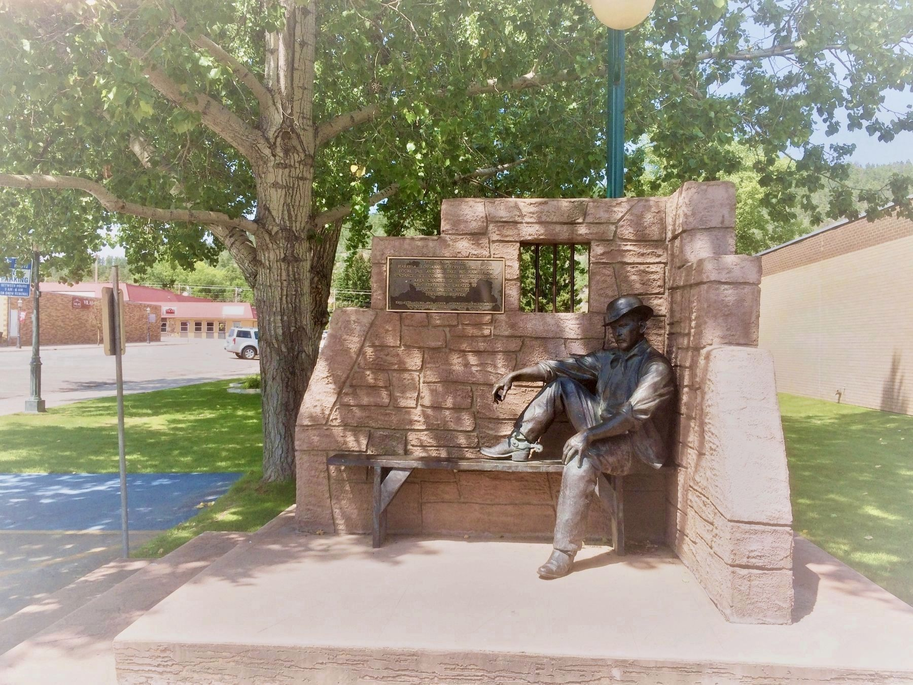 "The ""Sundance Kid"" Statue and Marker image. Click for full size."
