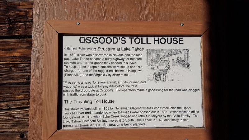 Osgood's Toll House Marker image. Click for full size.