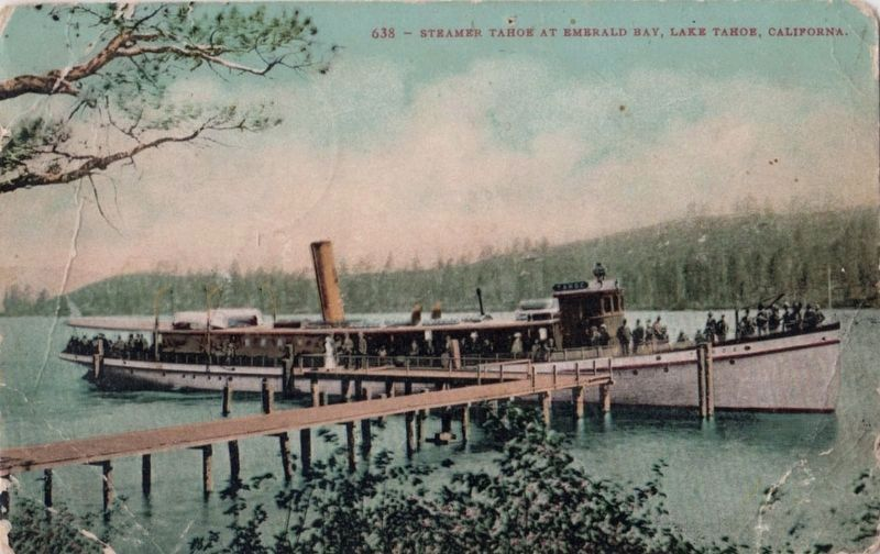 <i>Steamer &#39;Tahoe&#39;, Lake Tahoe, California</i> image. Click for full size.