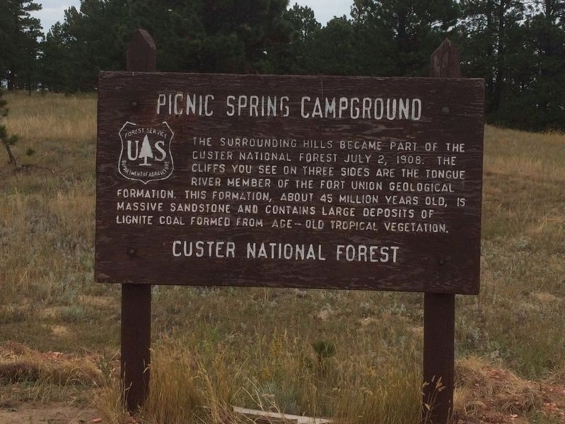Picnic Springs Campground Marker image. Click for full size.