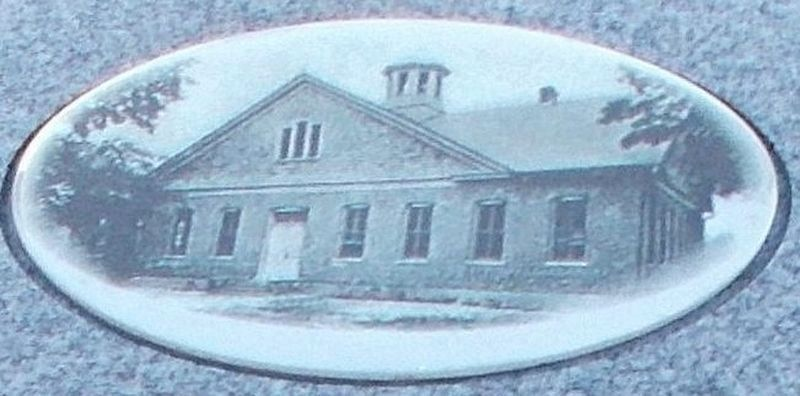 Detail of the school's photo implanted on the monument. image. Click for full size.