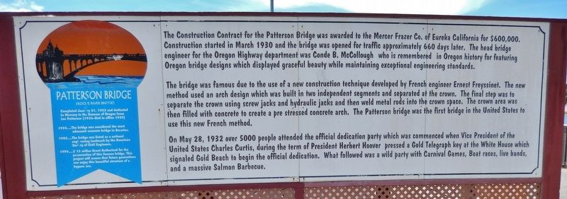 Patterson Bridge Marker image. Click for full size.